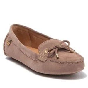 Ugg Eevon Taupe Suede Leather Moccasin Loafer 7